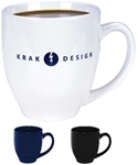 Shiny Finish Large C-handle Note: To prevent breakage, this product must ship in a damage resistant box, add $6.25 per caseNote: some geometric shapes and logos may distort due to the shape of the mug