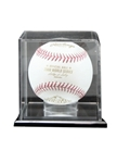 Elegant Display Case with Mirror back. Clear attractive display for that special Baseball. Mounted on a ebonyacrylic base to showcase that special achievement while keeping your cherished memory protected.