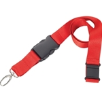 Includes breakaway neck clip and detachable plastic clip with wide metal swivel hook
