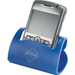 Flexible mobile device holder includes a wide opening for any mobile device up to 2 3/4w