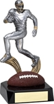 Football, Motion SilverStone Sculpture Award. The New Motion SilverStone Baseball Sport Sculpture figure is composed with sculpted flowing motion, mounted atop a high gloss full color sport ball - on a tapered ebony base. Add a gold-tone personalization plate to complete the award. Note - No Rush Service available on this item & 12 piece minimum required.