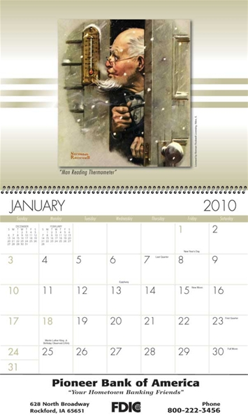American Illustrator Wall Appointment Calendar (Spiral) : Action