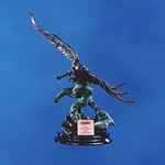 Majestic Breathtaking and Beautiful! This finely detailed sculptured 24 Antique Copper Finished Eagle is perched on an Ebony presentation base. Personalize with matching copper plate. There is no better way to recognize your soaring keen-eyed performers!