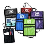 210D Polyester 2 front pocketsFold over top with hook and loop closure